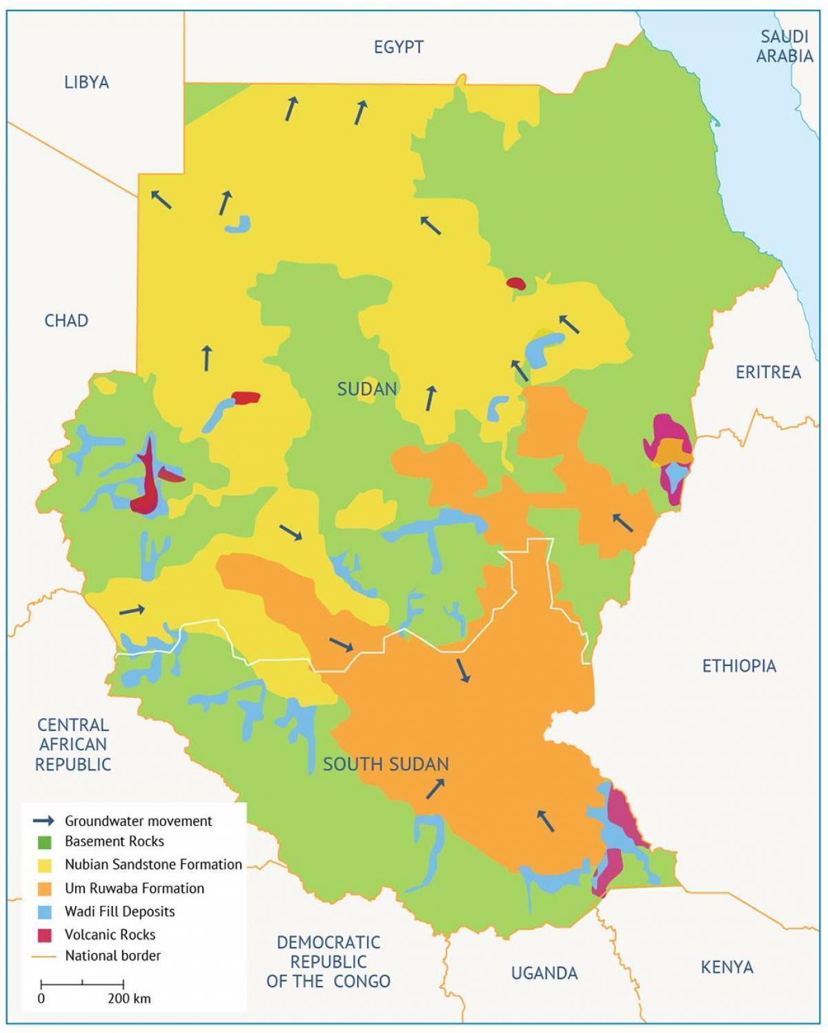 Sudan-Becken-map - Karte von Sudan-Becken (Nord-Afrika - Afrika)